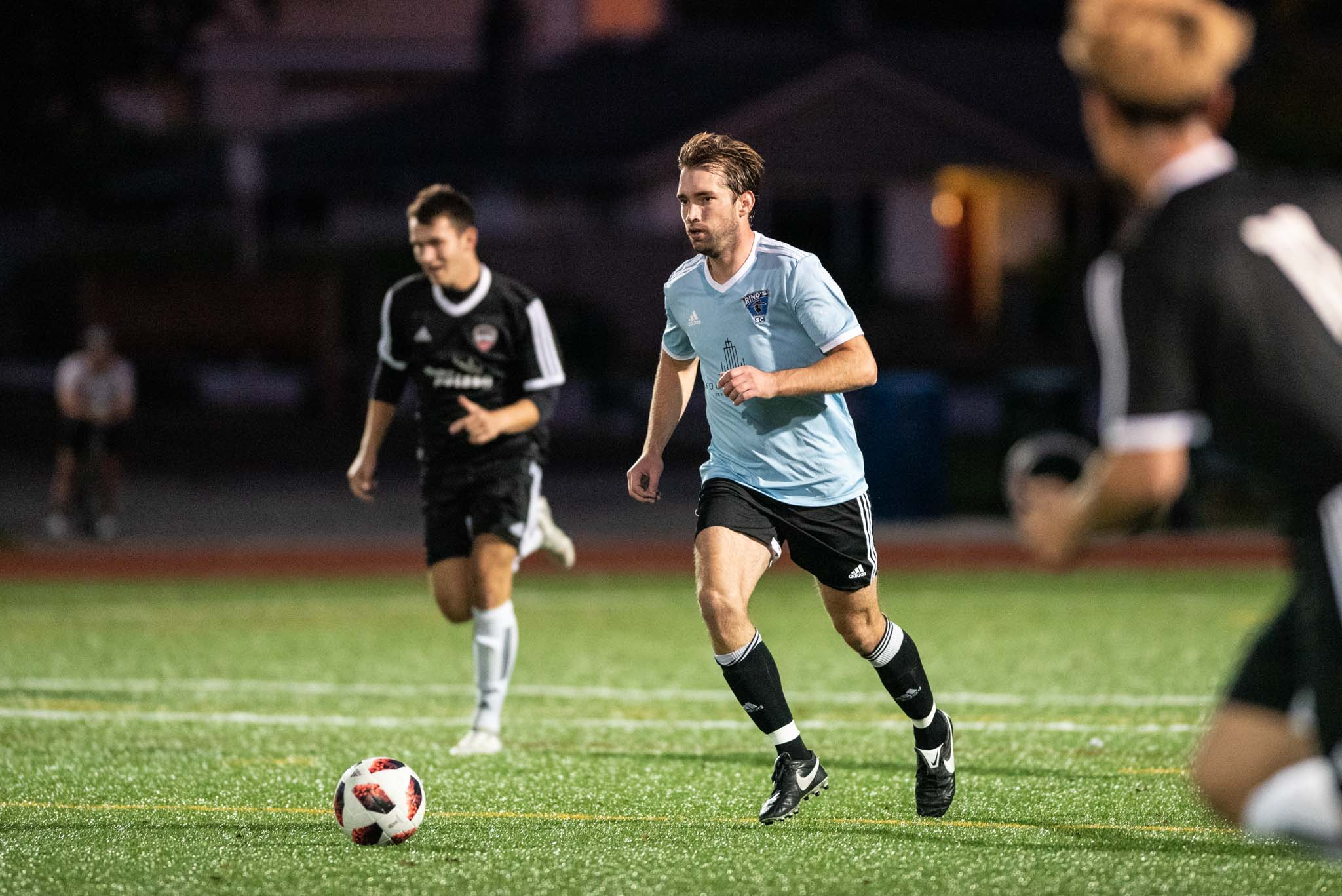Jamie O'Sullivan in action against Norvan FC during VMSL 2019/20 Season